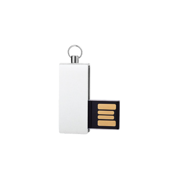 Mini USB Flash with White swivel