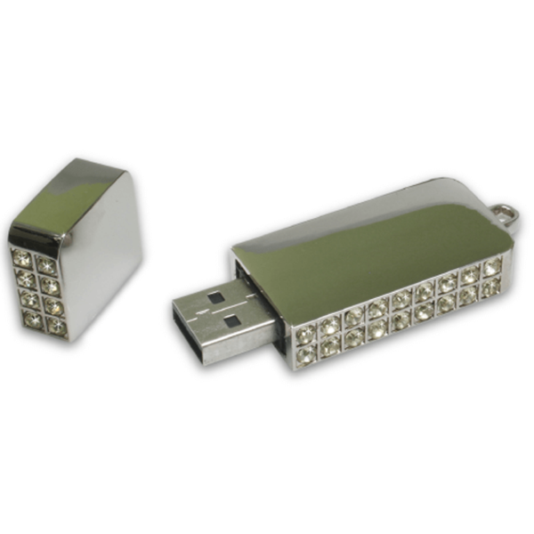 USB Flash Drives 8GB Gold with Pearl studded