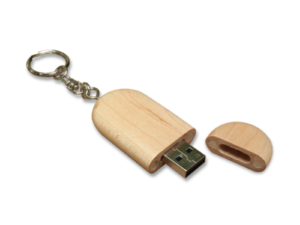 Wooden Key Holder USB Flash Drives 4GB