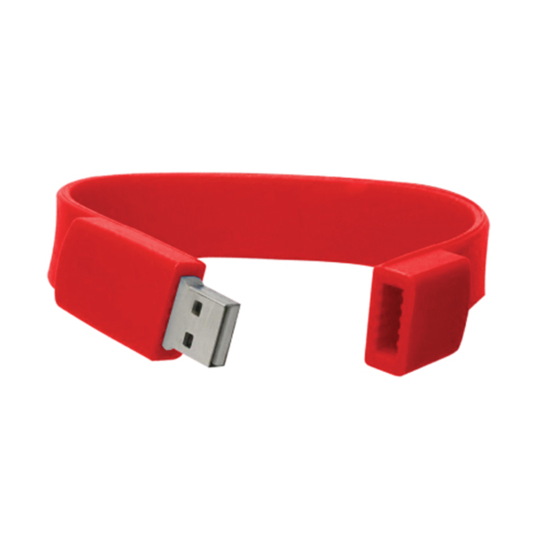 Wristbands USB Flash Drives Red