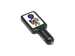Dual USB Car Charger- Black Colour