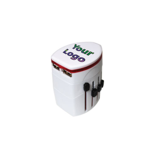 Universal Travel Adapter - White