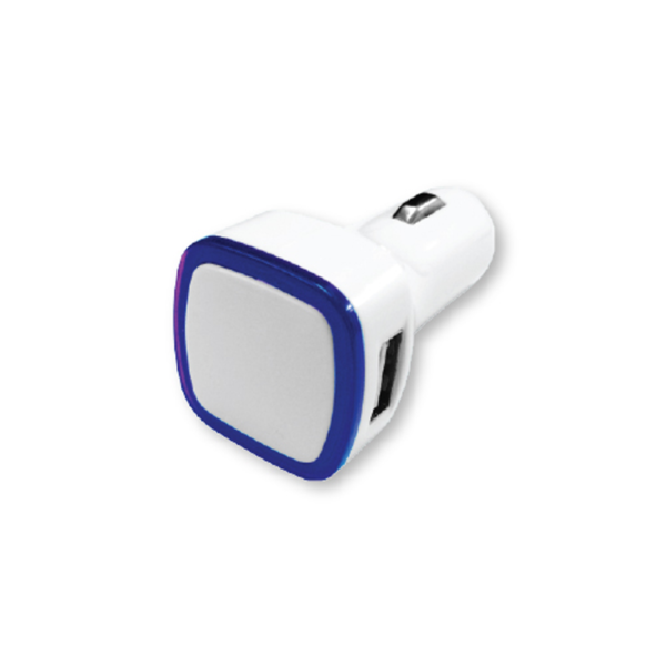 USB Car Charger Blue