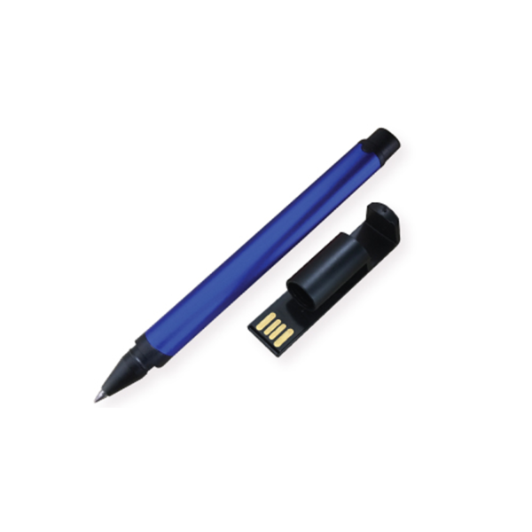 USB Pens with Mobile Stand and Screen Cleaner Blue Color