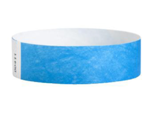Tyvek Wristbands Neon Blue Color