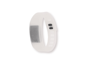 Wristband with Digital Watch White