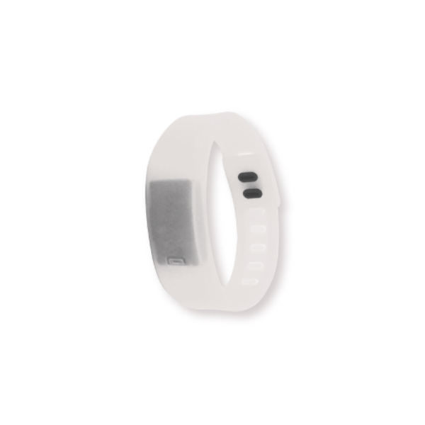 Wristband with Digital Watch White