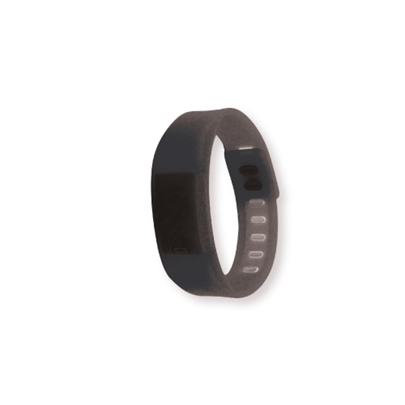 Wristband with Digital Watch Black