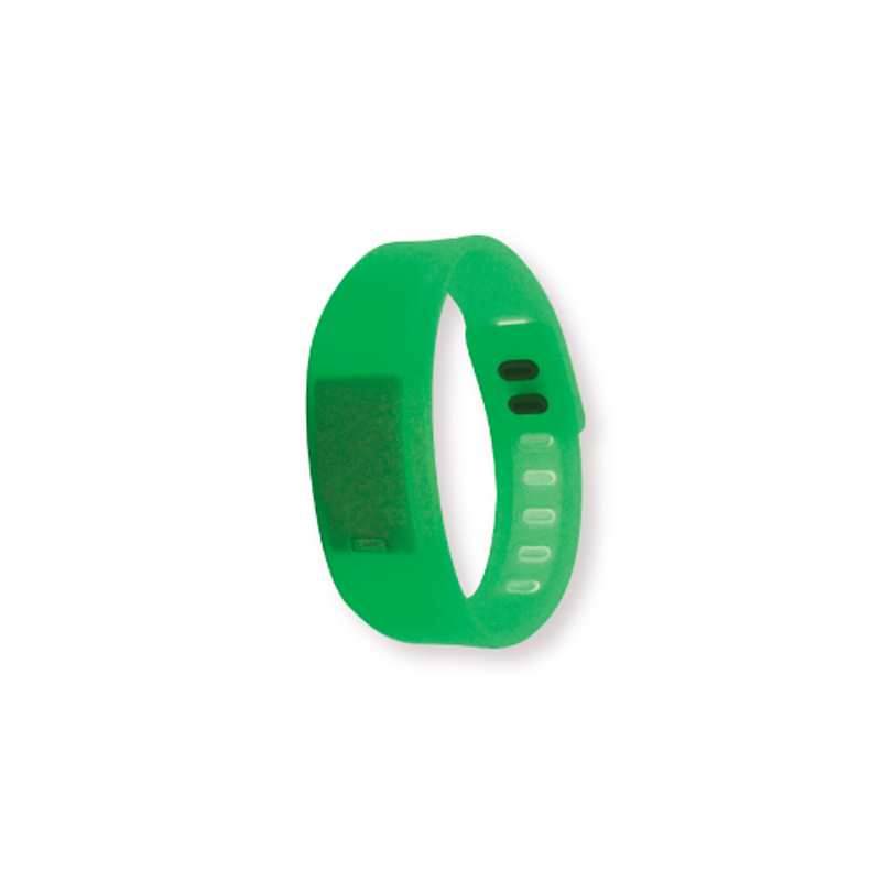Wristband with Digital Watch Green