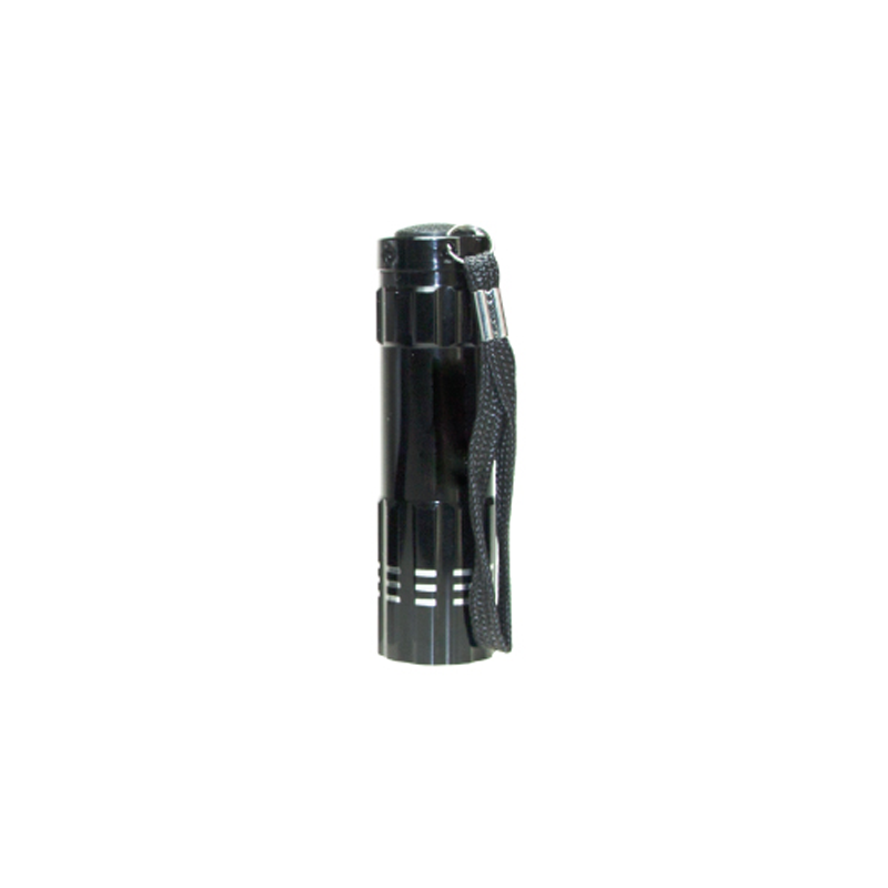 Aluminum Flashlight with Box Black Color