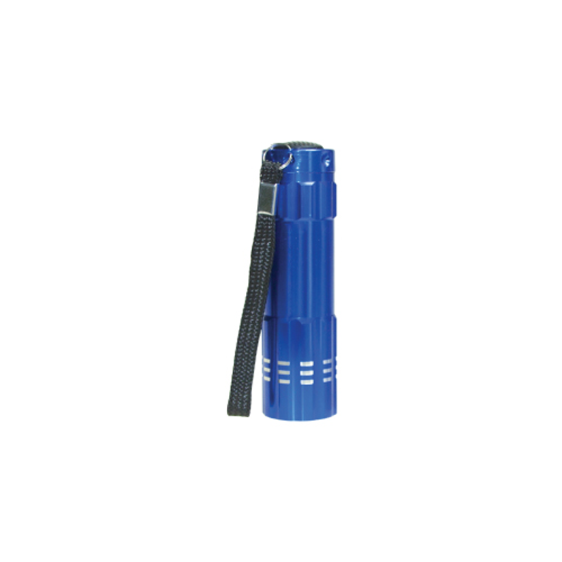 Aluminum Flashlight with Box Blue Color