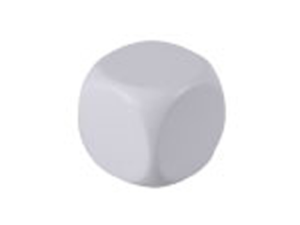 Antistress cube - White