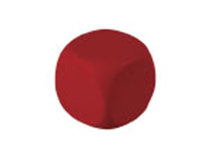 Antistress cube - Red