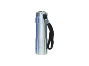 Aluminum Flashlight with Box Silver Color