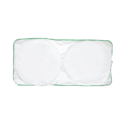 Car Sun Shade – White with Green Border