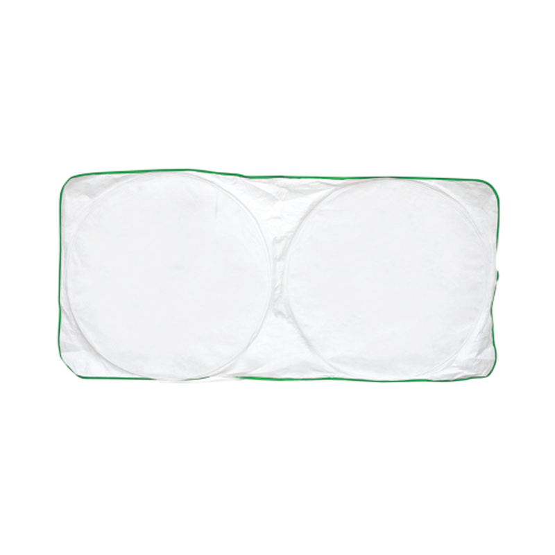 Car Sun Shade - White with Green Border