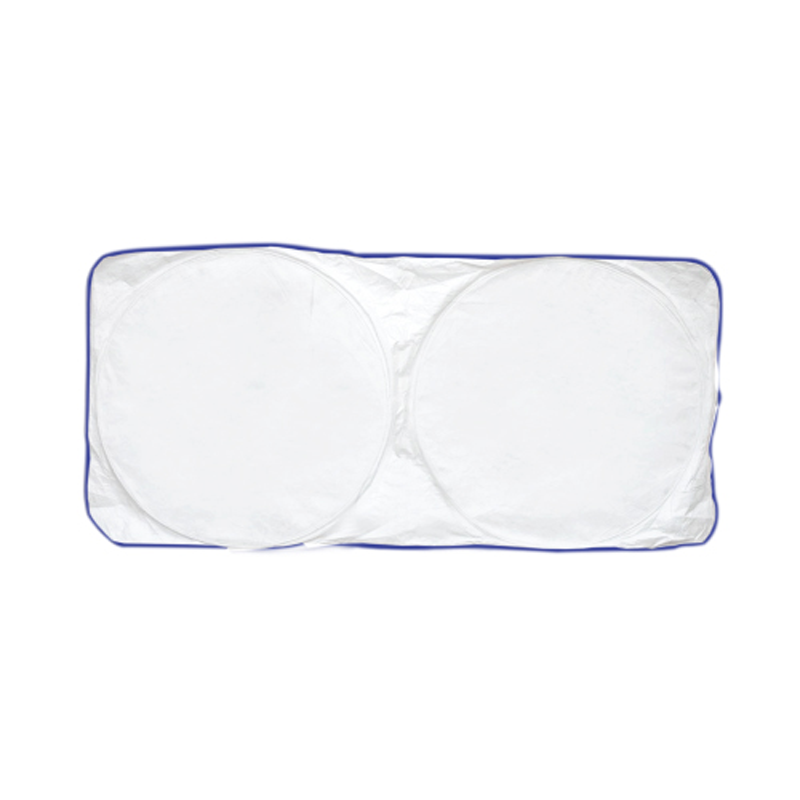 Car Sun Shade - White with Blue Border