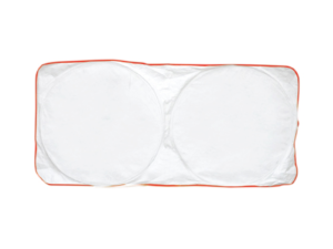 Car Sun Shade - White with Red Border