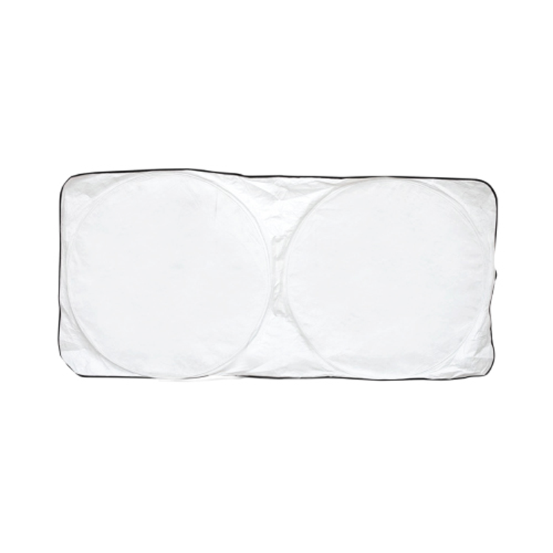 Car Sun Shade - White with Black Border