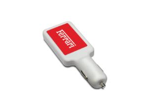 Dual USB Car Charger- White Colour