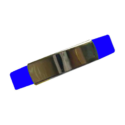 Silicone Wristband with Metal Part Blue