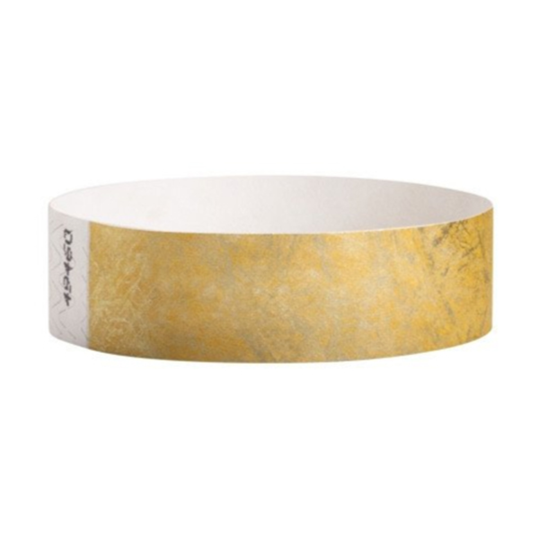 Tyvek Wristbands Gold Color