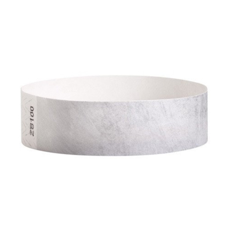 Tyvek Wristbands Silver Color