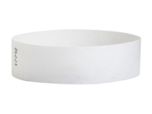 Tyvek Wristbands White Color