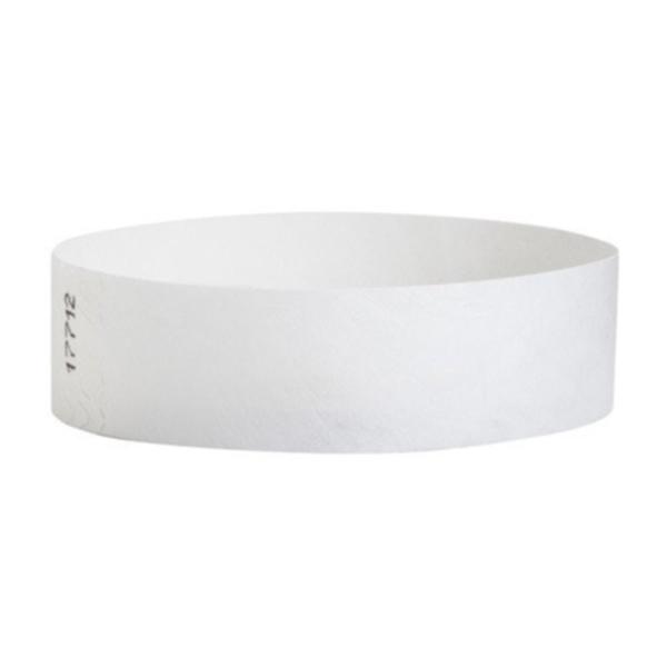 Tyvek Wristbands White Color