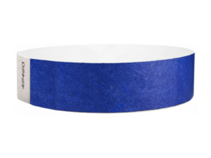 Tyvek Wristbands Blue Color