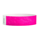 Tyvek Wristbands Neon Pink Color