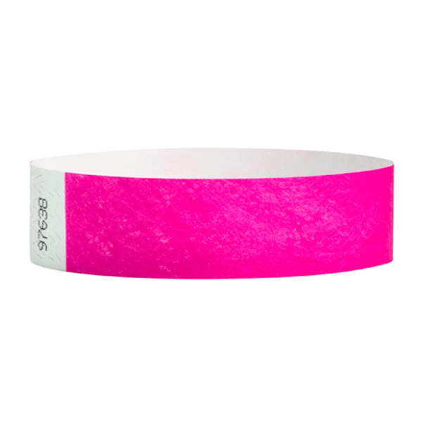 Tyvek Wristbands Neon Pink Color