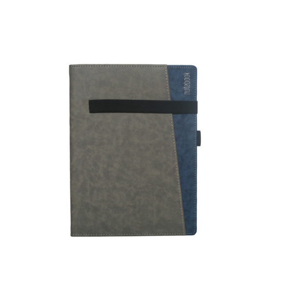 B5 Notebook, Hard Bound Double Colour Grey and Dark Blue Color, 192 Pages