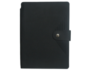 A5 Notebook, Soft Black with Button Closure, 192 Pages