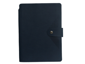 A5 Notebook, Soft Dark Blue with Button Closure, 192 Pages
