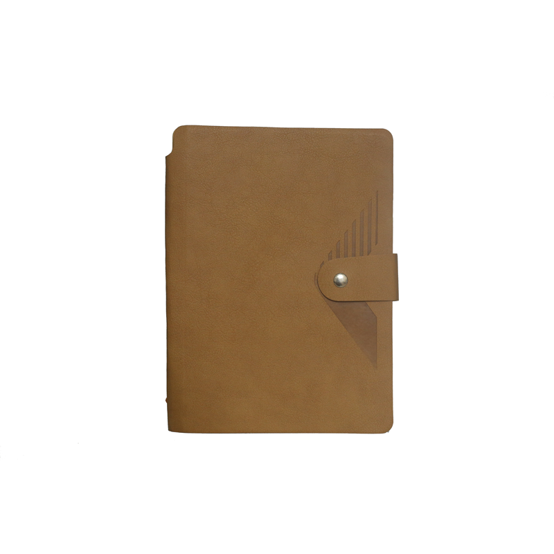 A5 Notebook, Soft Beige with Button Closure, 192 Pages
