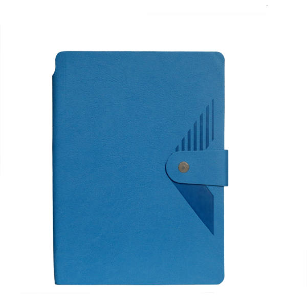 A5 Notebook, Soft Sky Blue with button Closure, 192 Pages