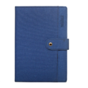 A5 Notebook, Professional Notebook Blue with Button Closure, 192 Pages