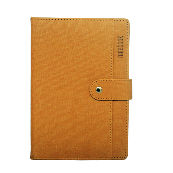 A5 Notebook, Professional Notebook Biege with Button Closure, 192 Pages