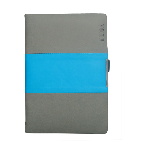 A5 Notebook, Professional Notebook Double Colour -Grey and Sky Blue Color, 192 Pages