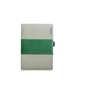 A5 Notebook, Professional Notebook Double Colour Grey and Green Color, 192 Pages