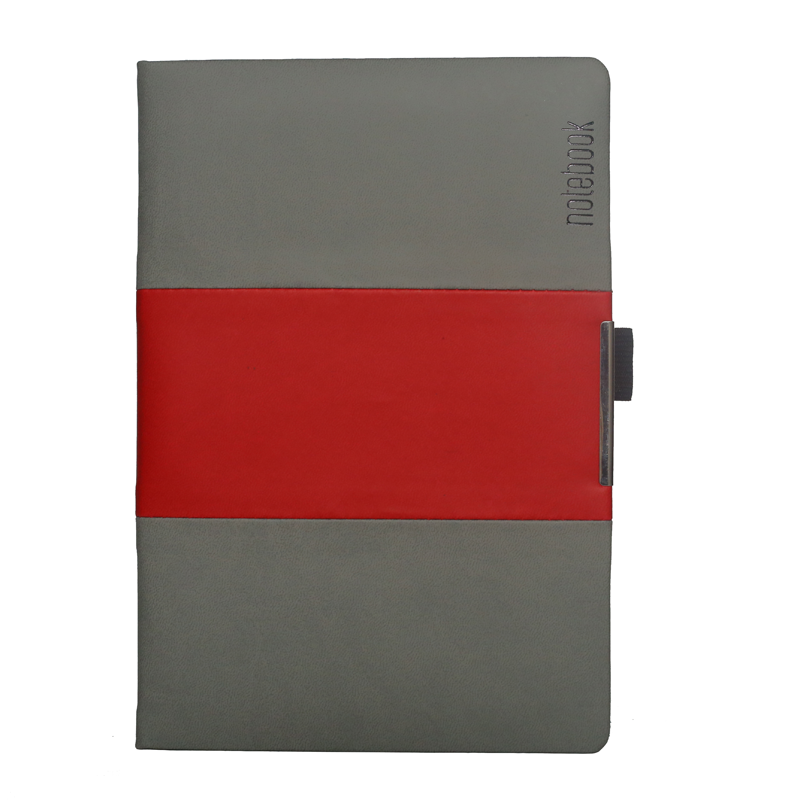A5 Notebook, Professional Notebook Double Colour Grey and Red Color, 192 Pages