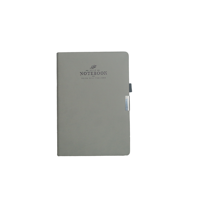 A5 Notebook, Professional Notebook with quote Grey Color, 192 Pages
