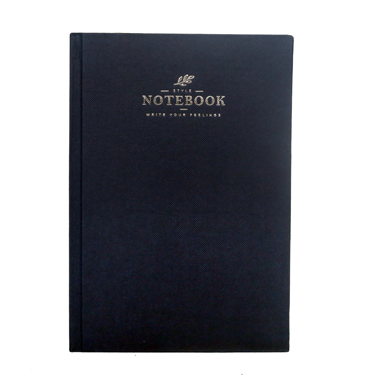 A5 Notebook, Professional Notebook with Dark Blue Textured , 160 Pages