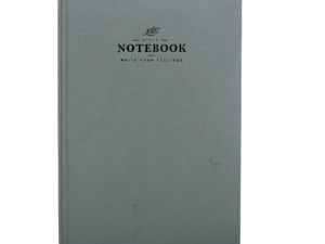 A5 Notebook, Professional Notebook with Black Textured, 160 Pages