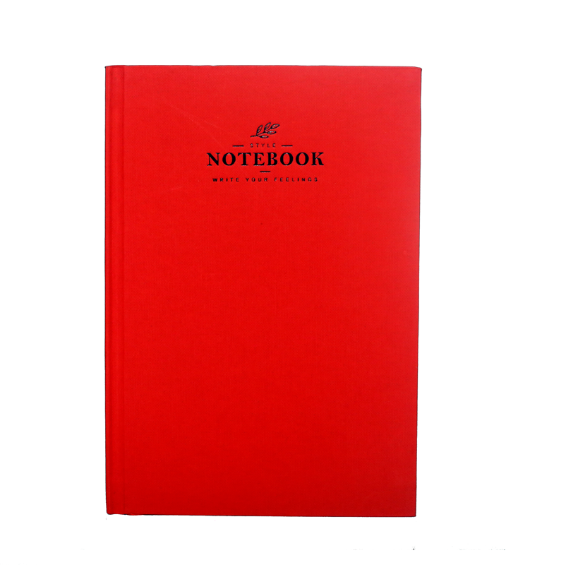 A5 Notebook, Professional Notebook with Red Textured , 160 Pages