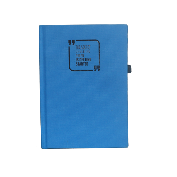 A6 Notebook, Hard Bound Textured Sky Blue, 160 Pages