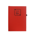A6 Notebook, Hard Bound Textured Red, 160 Pages