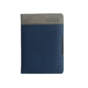 A6 Notebook, Hard Bound Double Colour Dark Blue and Grey Color, 160 Pages
