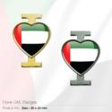 I Love UAE Flag Pin Badges